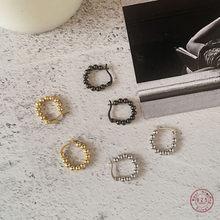 Boucles d'oreilles en argent Sterling 925, petites perles rondes simples pour femmes, Vintage exquis, fête de mariage, bijoux accessoires, cadeau pour petite amie