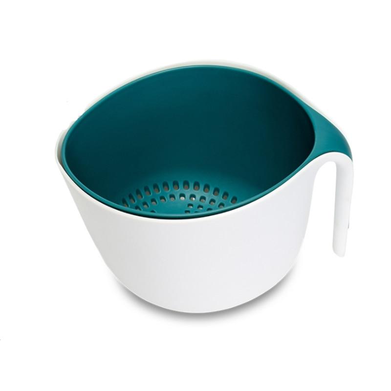 Купить двойная корзина для слива чаша мытья риса кухонная раковина