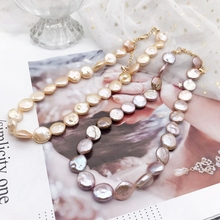 Free Shipping Choker Necklace Baroque Pearls Elegant Irregular