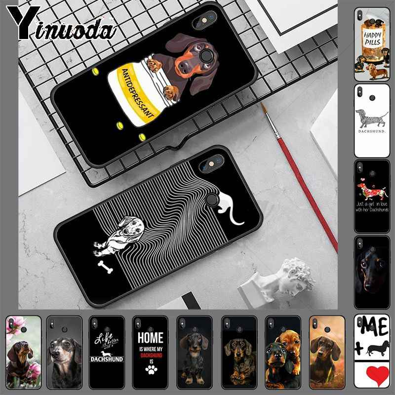 Yinuoda I love Dachshund cell phone case  for xiaomi redmi 7 5plus 6pro 6a 4x go note5 note7 note6pro mi8se 9se cover