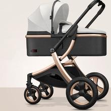 Adjustable Lightweight Luxury Baby Stroller 3 in 1 Portable High Landscape Reversible Stroller Hot Mom Pink Stroller Travel Pram