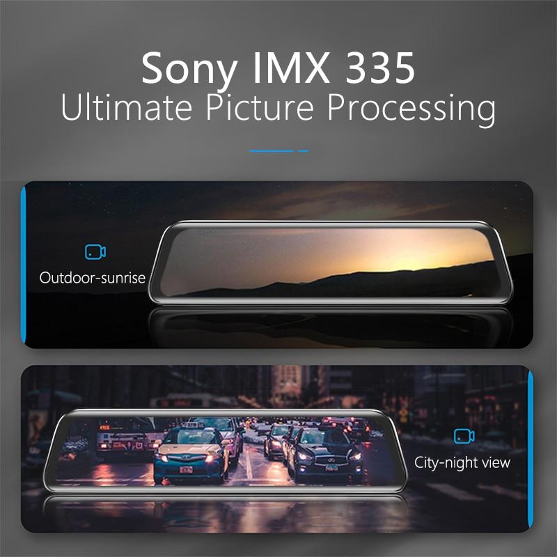 VVCAR-V17 12-inch RearView Mirror Car Dvr Camera Dashcam GPS FHD Dual 1080P Lens Driving Video Recorder Dash Cam Gift-32G Card 2