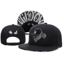 Bordado de la marca Retro gorras de béisbol para los hombres las mujeres hueso snapbacks negro sombreros arte de la calle sombrero, gorra de hip hop