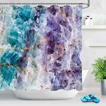 Мраморная занавеска для душа водонепроницаемая ванной комнаты