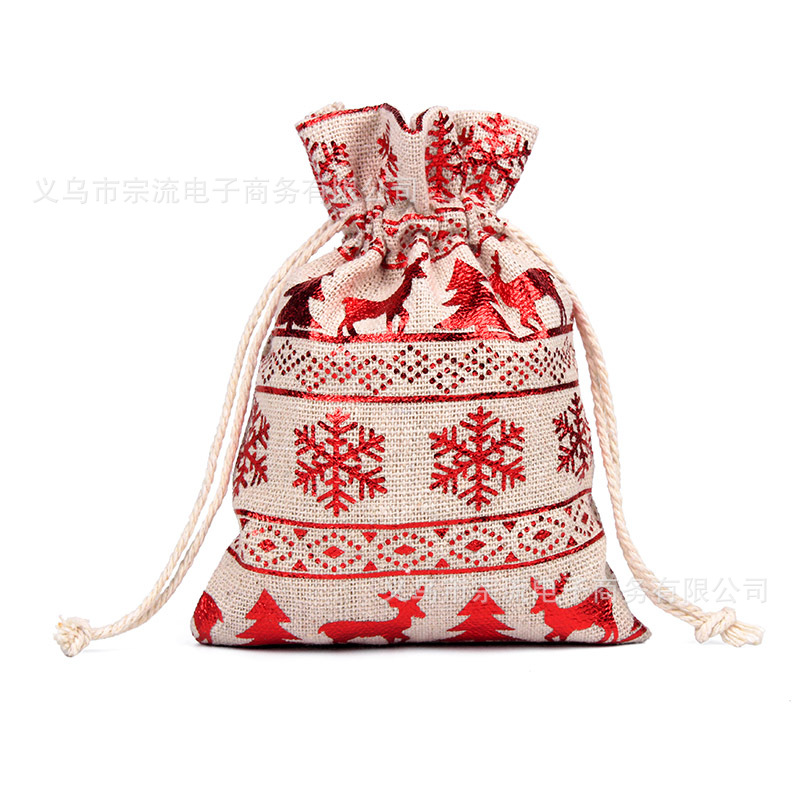 Big Red Bell Drawstring Bag Bunches Fashion Women Printing  Small Men Casual Bags Unisex Women's Drawstring Cotton New SDD-SJ-DZ