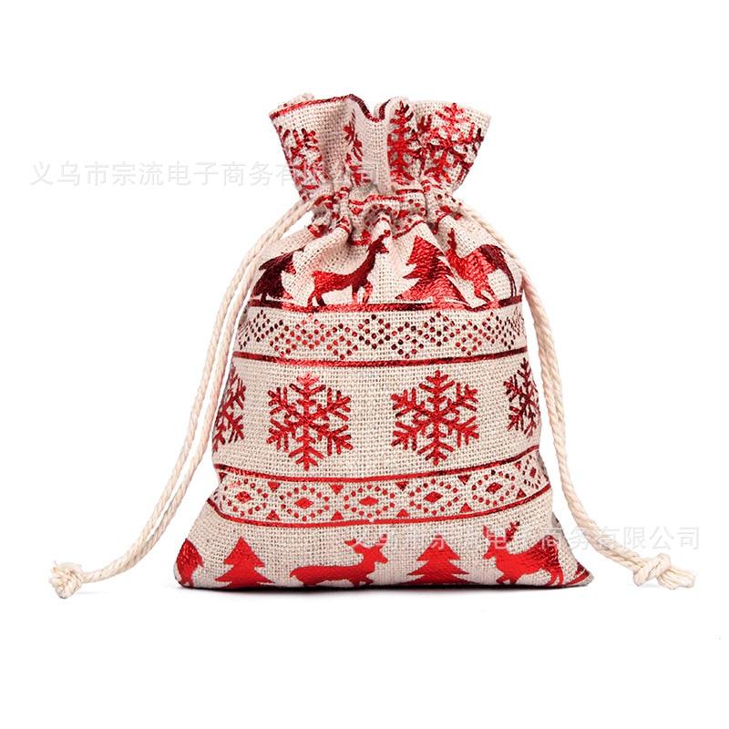 Big Red Bell Drawstring Bag Bunches Fashion Women Printing  Small Men Casual Bags Unisex Women's Drawstring Cotton New SDD-SJ-DZ