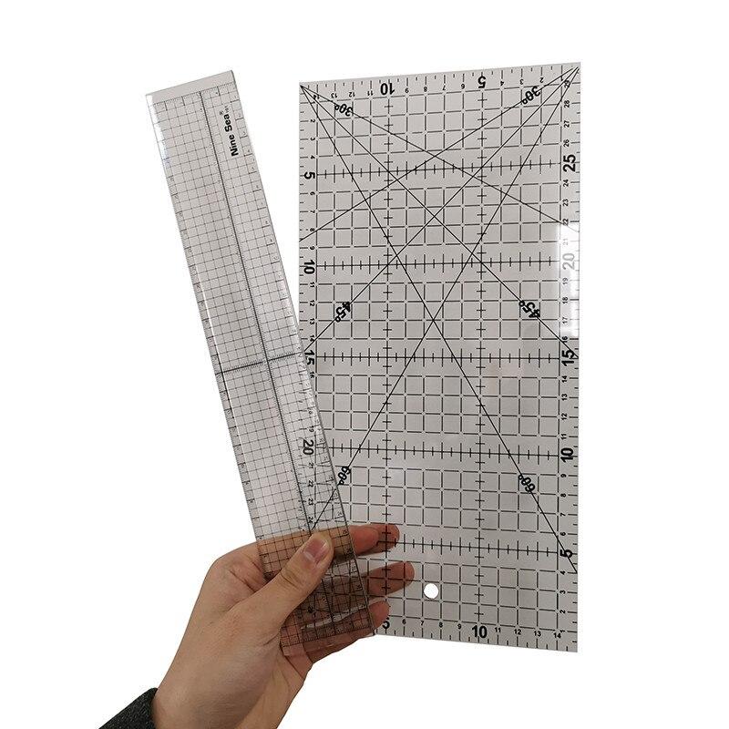 Patchwork Tool Ruler 2 Pcs 30*15/30*5cm Regular Cutting Ruler Patchwork Ruler DIY Ruler Patchwork Tools Student Stationery Hand
