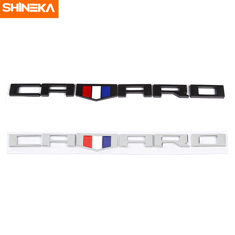 SHINEKA Car Sticker For For Chevrolet Camaro Emblem CAMARO Letters For Chevrolet Camaro RS SS