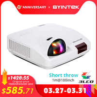 BYINTEK C600LST Short Throw Daylight projector,Hologram 3LCD Video XGA WXGA 1080P FullHD Projector for Cinema Education Business