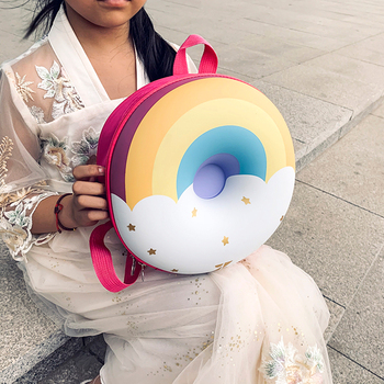 Children Cute Donut Rainbow Backpack Kids Kindergarten School Book Bag Cartoon Casual Students Bagpack 1