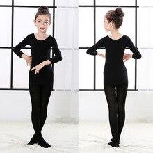 Комплект термобелья для детей, флисовые плотные теплые подштанники для танцев для девочек, детское нижнее белье осенне-зимний комплект одежды для девочек от 2 до 14 лет