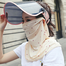 Women Sun Protection Print Scarf Neck Masks Mouth Mask Dust Respirator Washable Reusable Ice Silk