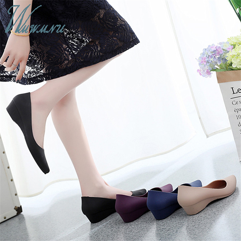 Casual Work Women Basic Candy Color Nude Heels Lady Office Pumps Black Comfortable New Wide Heels Low Block Shoes Blue Zapatos