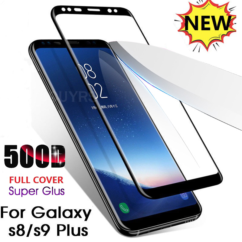 500D Full Curved Tempered Glass For Samsung Galaxy Note10 S9 S8 Plus Note 9 8 Screen Protector For Samsung S9 S7 Protective Film