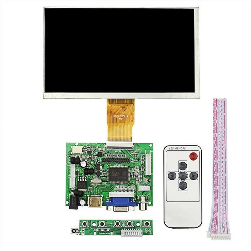 7 inch 7 LCD TFT Display HDMI VGA Monitor Screen + Remote control for Raspberry Pi 3B 4+ image