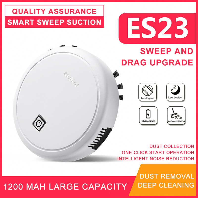 Robot Vacuum Cleaner Vacuuming Smart Sweeping Electric Robot 2000pa Multifunctional Auto 3In1 Rechargeable Household Appliances