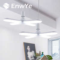 EnwYe LED Licht 30W 45W 60W AC 110V 220V Super helle einstellbare winkel Klapp Vier -blatt Verformung Lampe E27