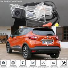 Câmera de visão traseira do carro para renault captur 2013 hd 2018 hd ccd noite visão traseira do carro invertendo câmera para renault kaptur 2016 ~ 2019