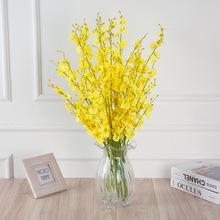 5 sztuk sztuczne storczyki wesele sztuczne sztuczne kwiaty bukiet ślubny strona główna dekoracje sztuczne kwiaty tanie tanio merylover Kwiat Oddział magnolia Jedwabiu Ślub
