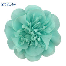 5pcs/lot 9cm Large Artificial Chiffon Flower with/without Hair Clip Retail Hairpin Accessories TH298