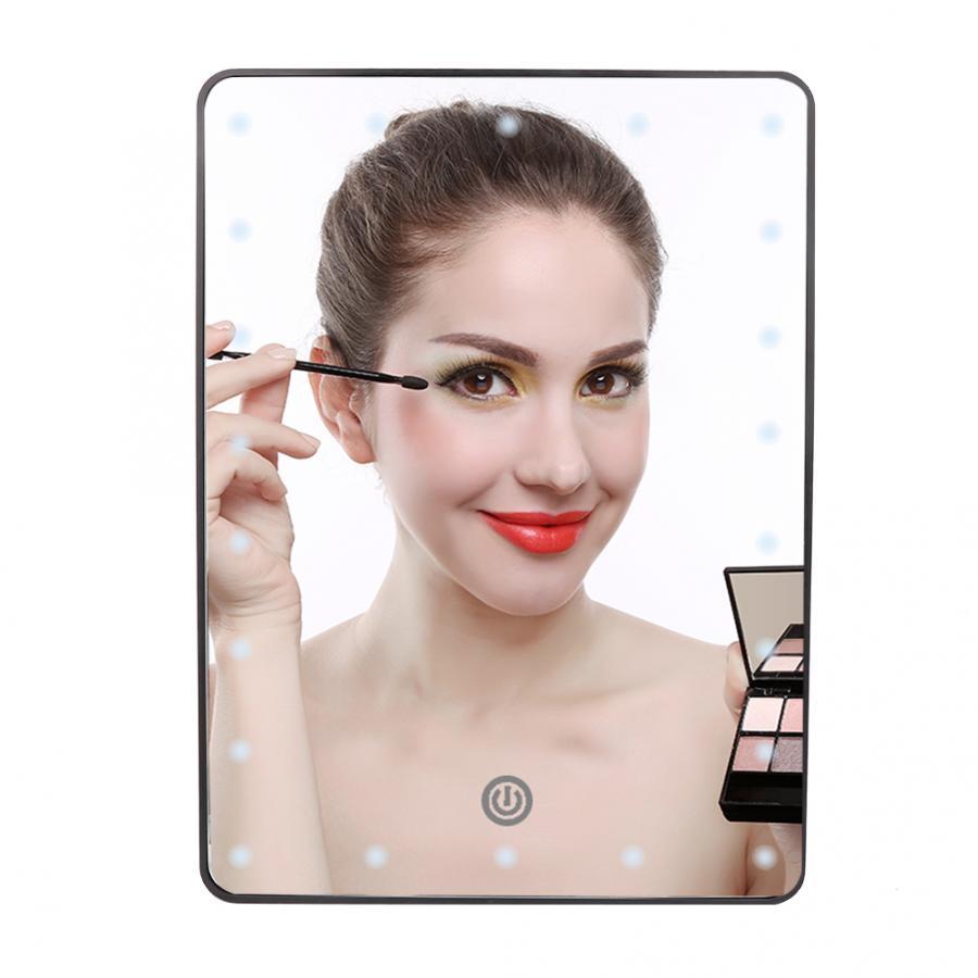 Портативный светодиодный макияж зеркало модный Рабочий стол заполняющий свет зеркало косметический инструмент туалетное зеркало регулируемое косметическое зеркало