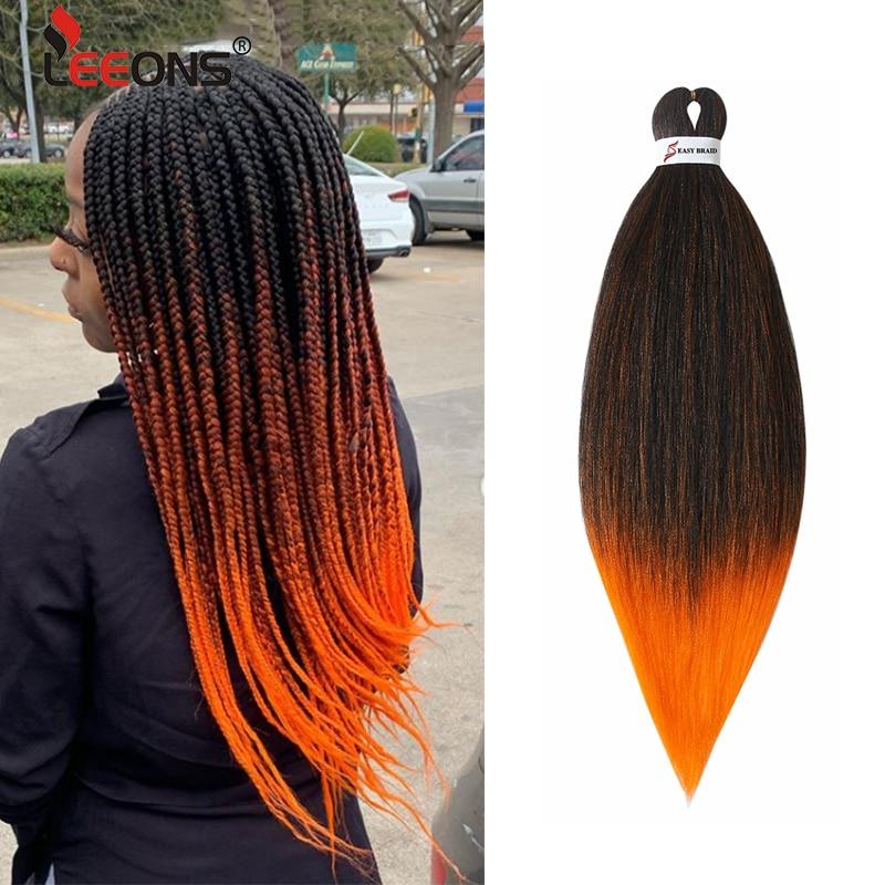 Nuevas trenzas Ez Leeons, cabello preestirado fácil de trenzar en Crochet, cabello Pre estirado sintético Ez trenzado profesional
