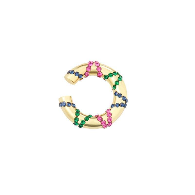 Itenice العرقية كريستال أقراط الأذن للنساء بوهيميا حجر الراين الأذن الكفة الأذن متسلق أقراط