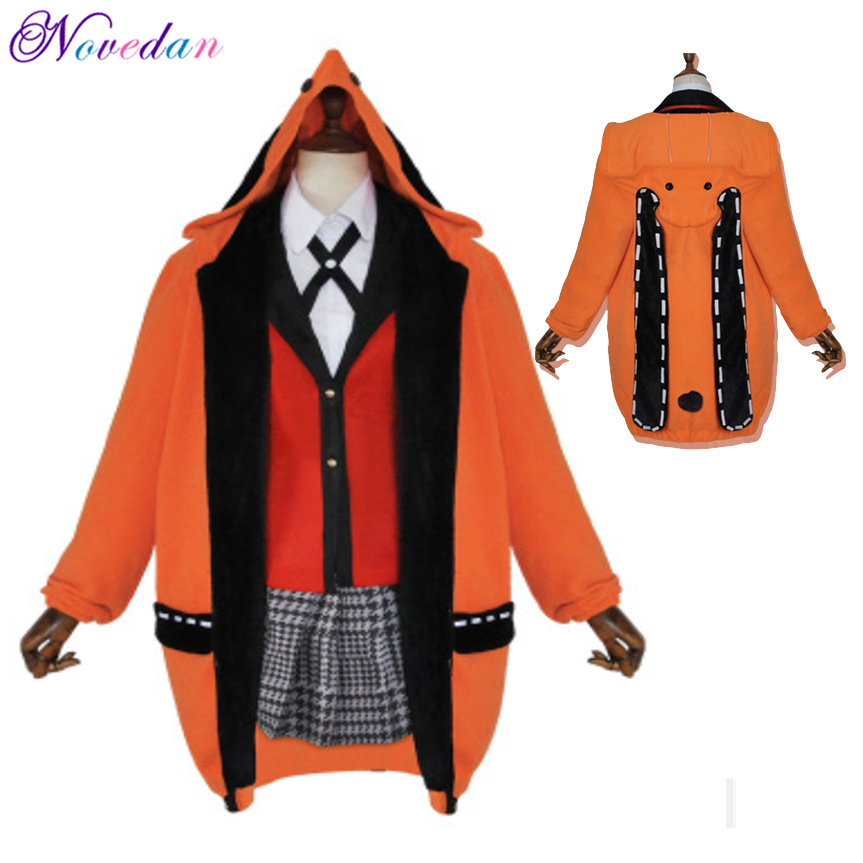 Anime Kakegurui Cosplay Figure Yomotsuki Runa Cosplay Costume JK School Girls Uniform Hoodie Halloween Dress For Women