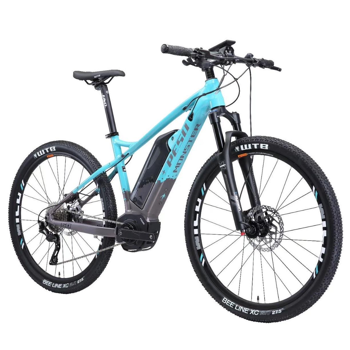 2020 PESUMONSTER XC 27.5 pollici di montagna elettrica ebike 10 velocità 36V350w metà del motore eMTB Intelligente assist power off-road bicicletta