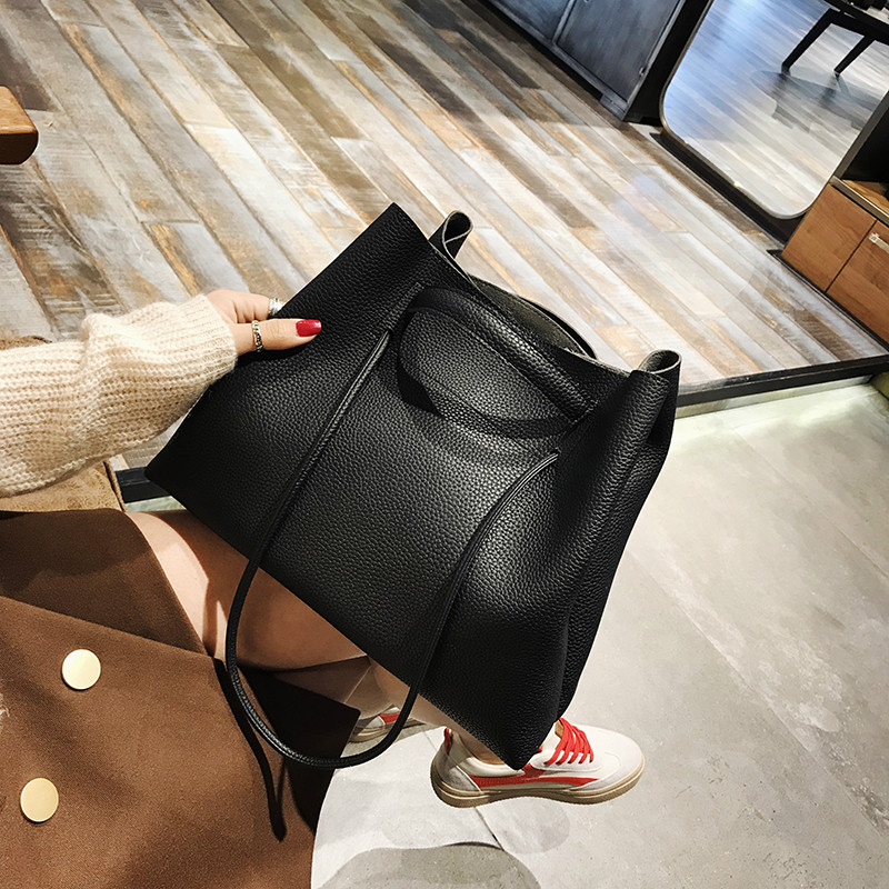Fashion PU Leather Woman Shoulder Bags Brand Handbags Women Bucket Bags Designer Messenger Bag High Quality Women Mujer Bolsas in Shoulder Bags from Luggage Bags
