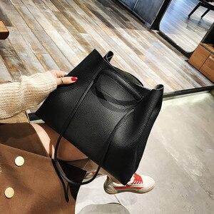 Image 4 - Moda PU deri kadın omuz çantaları marka çanta kadın kova çanta tasarımcısı askılı çanta yüksek kalite kadınlar Mujer Bolsas