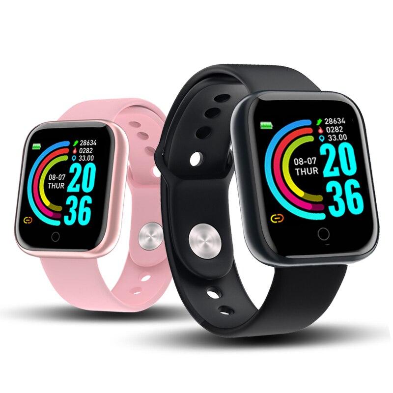 Bluetooth Смарт часы мужские спортивные умные часы монитор сердечного ритма трекер артериального давления фитнес браслет для Apple IOS Android Y68 Смарт-часы      АлиЭкспресс