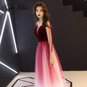 Image 4 - Vestido De Festa V Neck Sexy formalne na imprezę bal suknia długie suknie wieczorowe