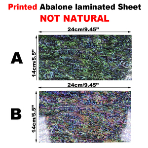 Wifreo 14x24 см печатный зеленый Paua покрытый усиленным клеем лист шпона Abalone оболочка ламинат приманка/джиг/удочка украшения
