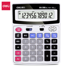 Deli  voice calculator Home office 12 Digit Electronic Calculatory Financial calculation Music clock Multifunction calculator deli home office voice calculator 12 digit electronic calculatory can display calendar music clock multifunction calculator