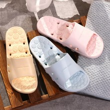Slippers Women Anti-Slip House Bathroom Slides Couple Indoor Eva Home Hotel Slippers Women Summer Soft Shower Tough Shoes 0415 cheap SAGACE Low (1cm-3cm) Fits true to size take your normal size Women s Slippers Basic Rome Solid Flat with Adult Women Girl
