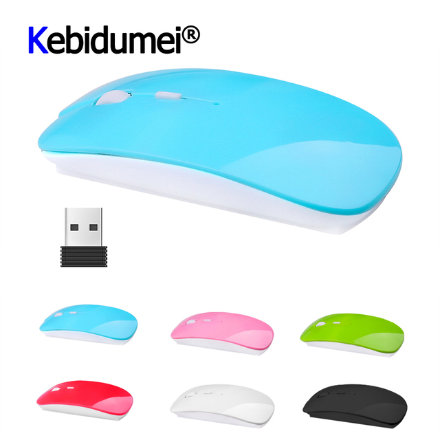 Optical USB Wireless Mouse 2.4Ghz Receiver Latest Super Slim Thin Mouse Gaming For Macbook Mac Notebook Laptop For Game