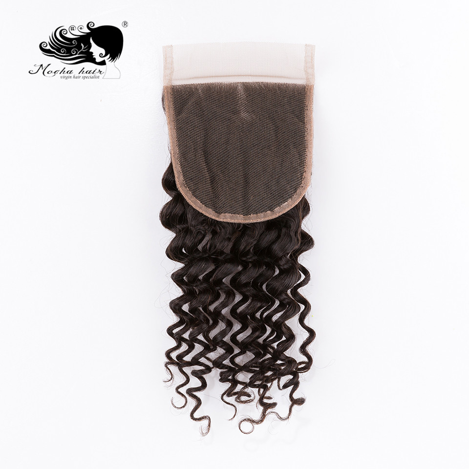 Mocha Hair Deep Wave  Lace Closure 4