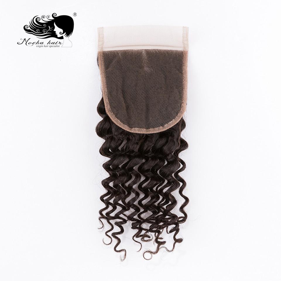 Mocha Hair Deep Wave  Lace Closure 4
