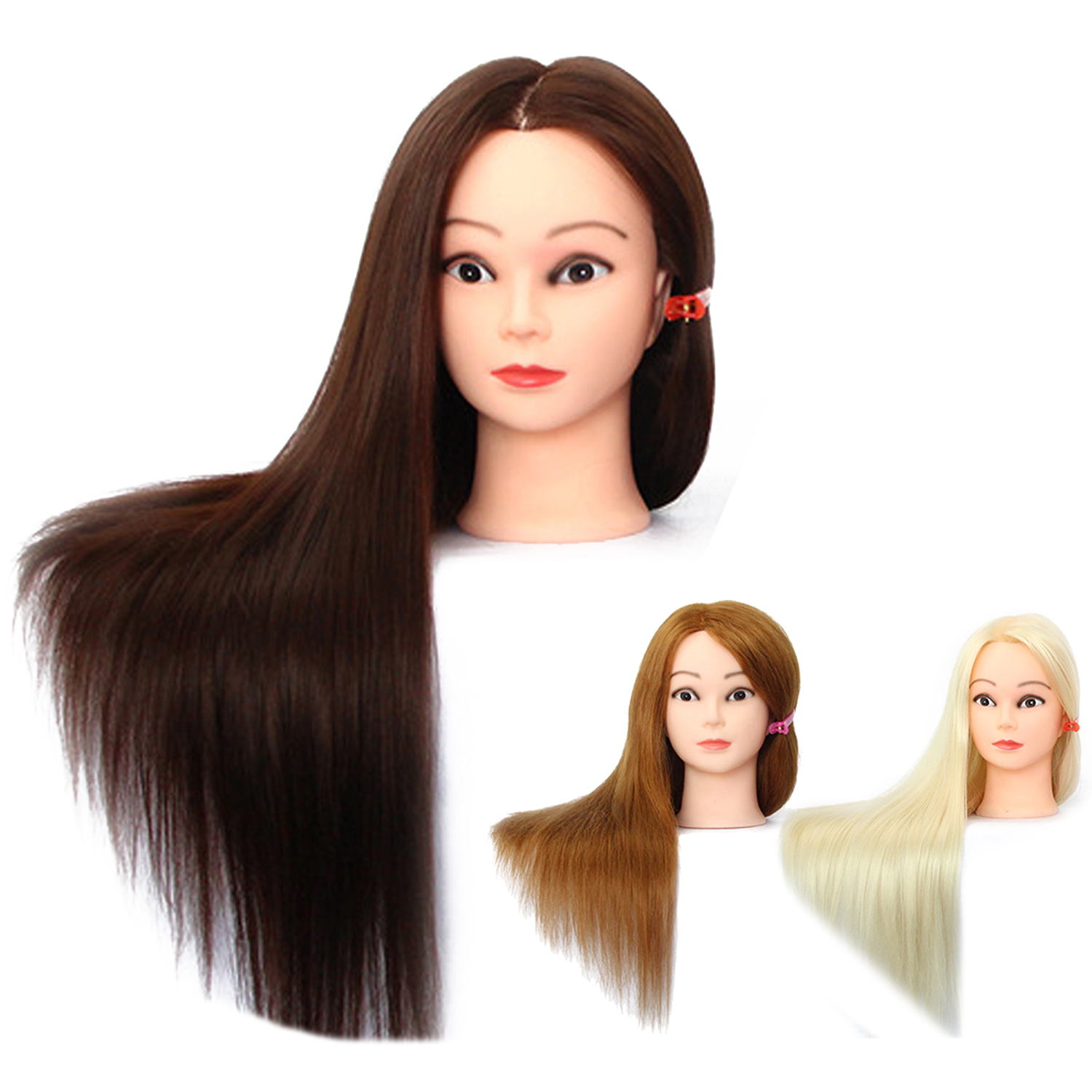 1pc 50% Human Hair Mannequin Practice Head Hair Salon Hairdresser Hair Styling Hairdressing Practice Training Mannequin Head