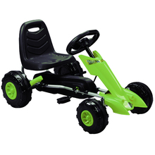 Дети 4 колеса езды на автомобиле с гоночным рулем, от 3 до 8 лет дети Веломобиль с ручным тормозом