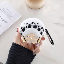 Bluetooth Earphone Case for Airpods Cute Protective Cover for Airpods 1 2 Accessories Keychain 3D Design One Piece Luffy Zoro(China)