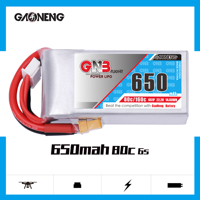 Gaoneng GNB 650mAh 22.2V 6S 80C/160C Lipo battery with XT30 or XT60 Plug for FPV Racing Drone RC Quadcopter Helicopter parts