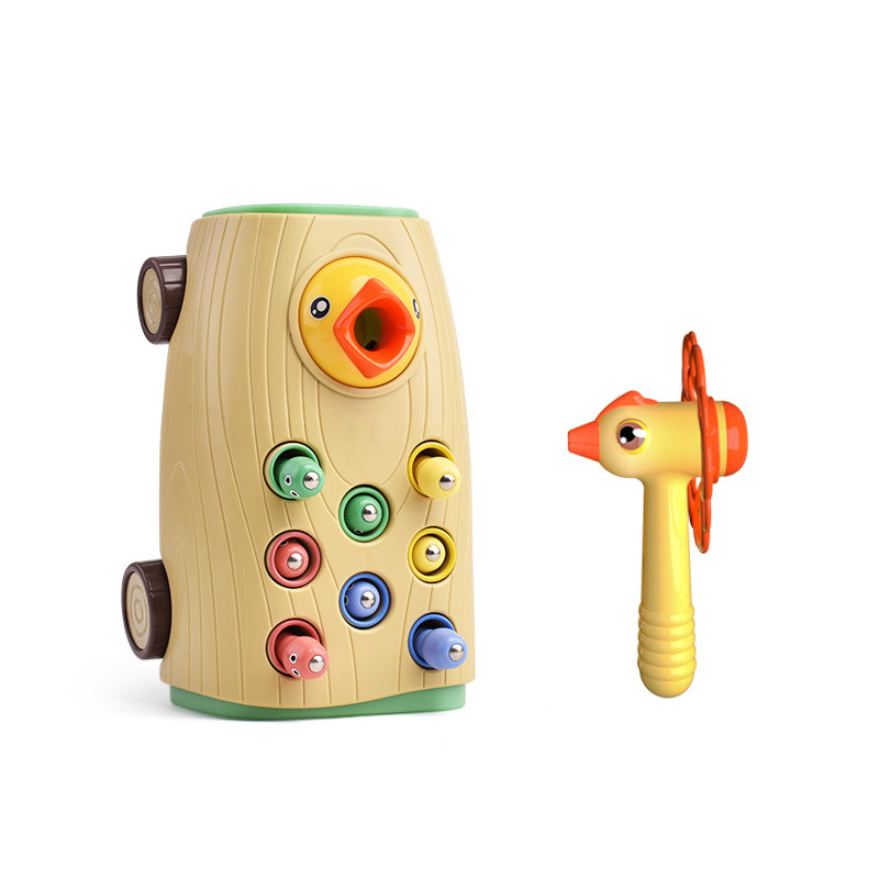 Montessori Puzzle Toys 3D Cognitive Strawberry Grasping Ability Wooden Toy Early Educational Puzzle Catch Worm Game Baby Toys 10