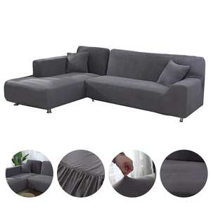Sofa-Cover-Set Chaise Pets-Corner Geometric Elastic Living-Room L-Shaped for Longue 2pieces