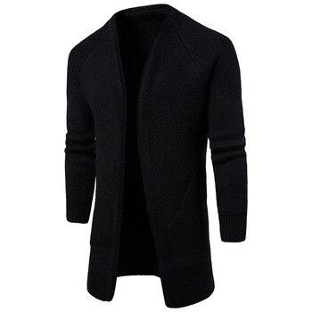Windbreaker Hombre Overcoat Jacket Trench Coat For Men No Buttons Masculino Windproof Trench Coat Men's Clothes Autumn Solid