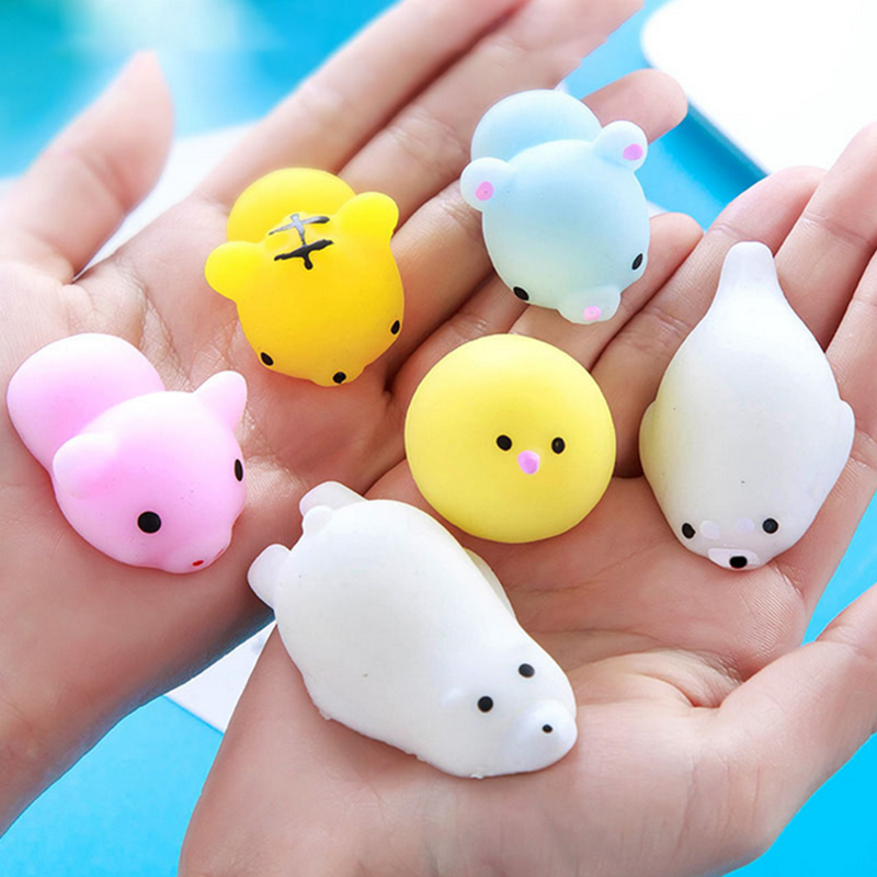 Squeeze Squeaky Toys Squishy ANTISTRESS Durable Funny Rubber Sound Toy Stress Relief Toy Adults Kawaii Squishy Slow Rising Sheep