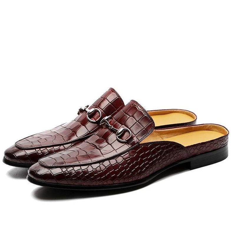Men Pu Leather Shoes Casual Shoes Dress Shoes Brogue Shoes Spring Vintage Classic Male Casual   Summer Slippers Men F85