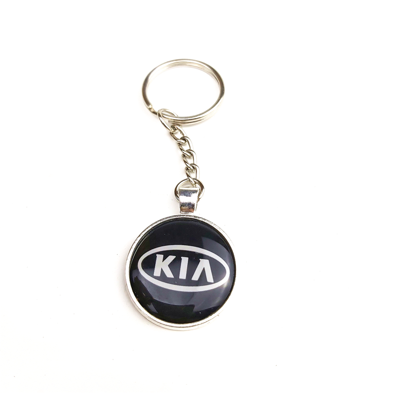 1Pcs Car Logo Key Chain Alloy Metal Keyring Car-styling FOR KIA K2 K3 K5 K9 Sorento Sportage R Rio Soul Auto Accessories