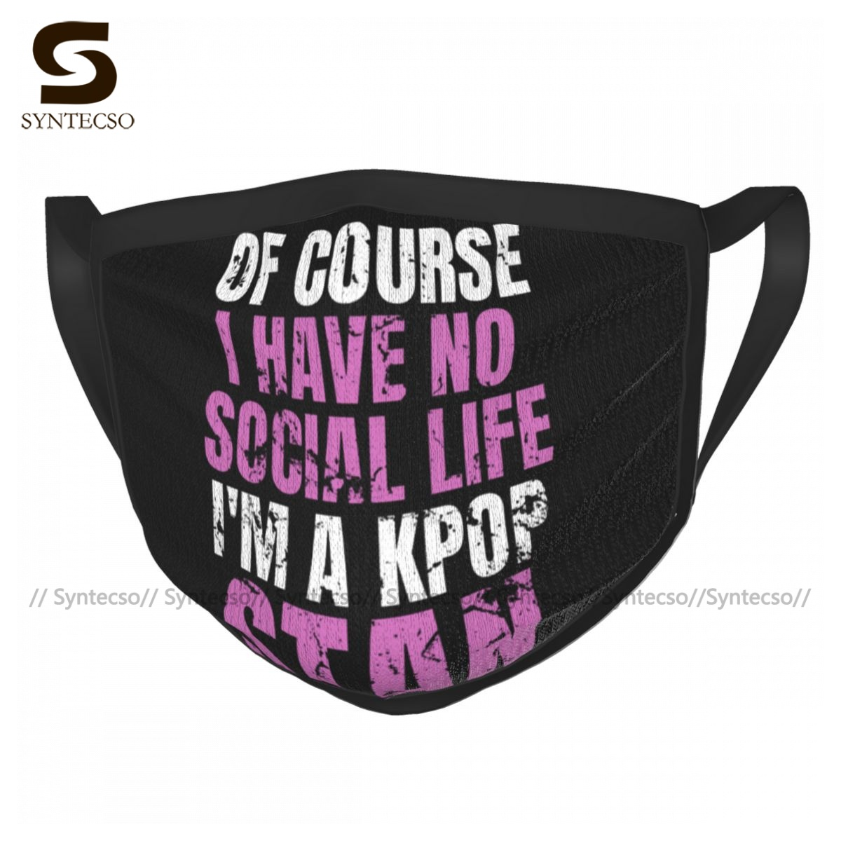 Kpop Face Mouth Mask Adults Dust Washable Fancy Polyester Charm Facial Mask